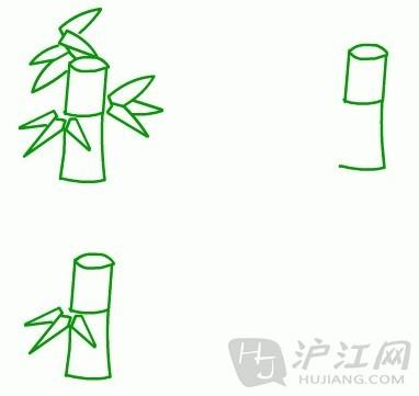 手抄报花边:儿童简笔画竹子