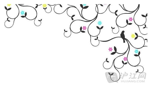 手抄报花卉小鸟花边绘制