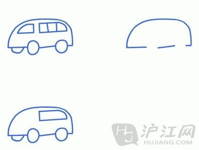 手抄报花边:儿童简笔画面包车-打印版式
