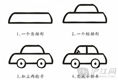 手抄报花边:儿童简笔画小轿车