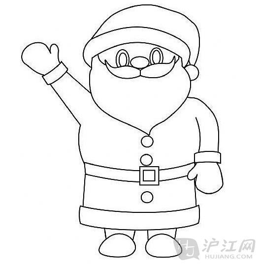 手抄报花边:圣诞节简笔画圣诞老人1