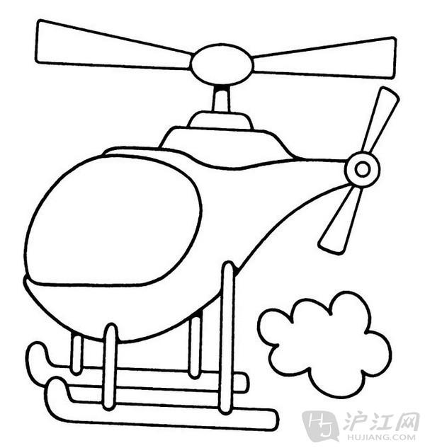 手抄报花边:儿童简笔画直升飞机
