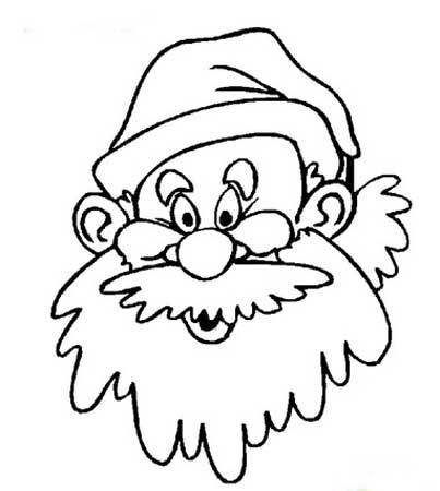 圣诞老人简笔画:欧洲神话中的圣诞老人-打印版式
