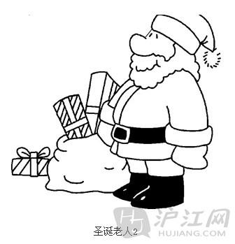 手抄报花边:圣诞节简笔画圣诞老人6