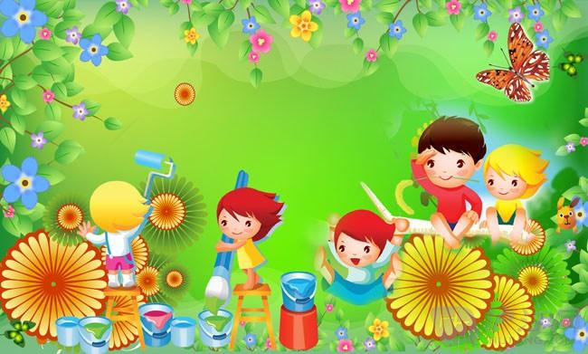 关于六一儿童节的画:花的海洋
