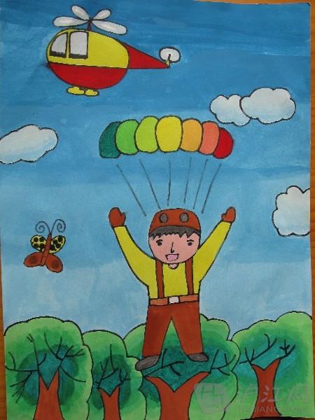 幼儿园中班健康教案:小伞兵