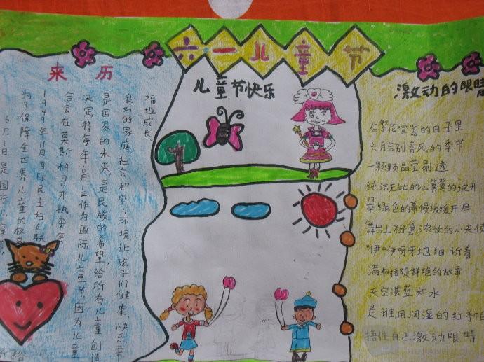 幼儿园小朋友六一儿童节手抄报图片欣赏图片