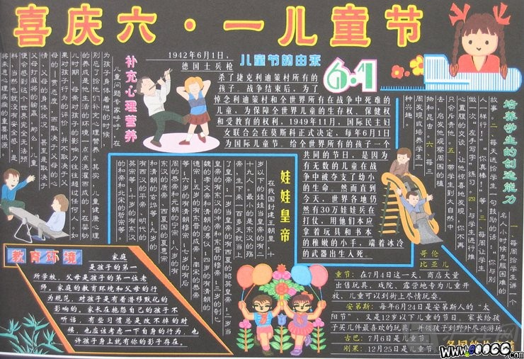 六一儿童节黑板报精选内容素材