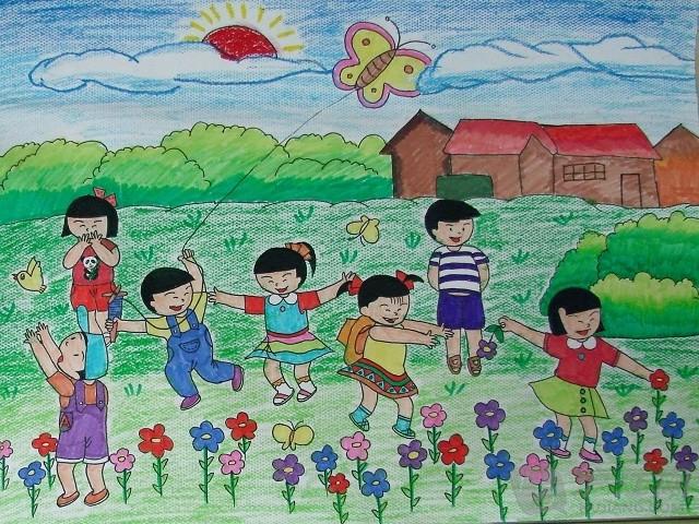 小朋友作品 欢乐过六一儿童节的画