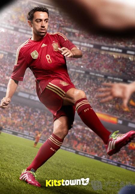 2014世界杯西班牙国家队主场球衣