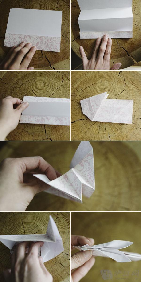 超萌兔子手工折纸盒教程图解