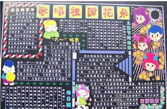 六一儿童节黑板报图片及文字信息精选