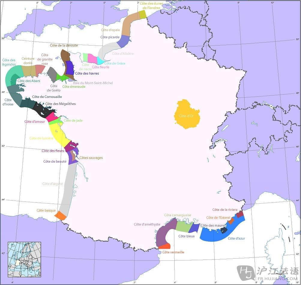 欧洲地图法语版