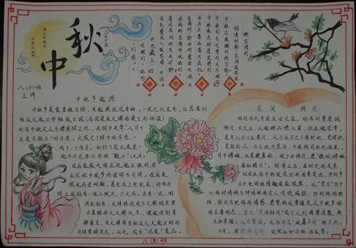 2014年中秋节手抄报版面设计图片_沪江英语学习网
