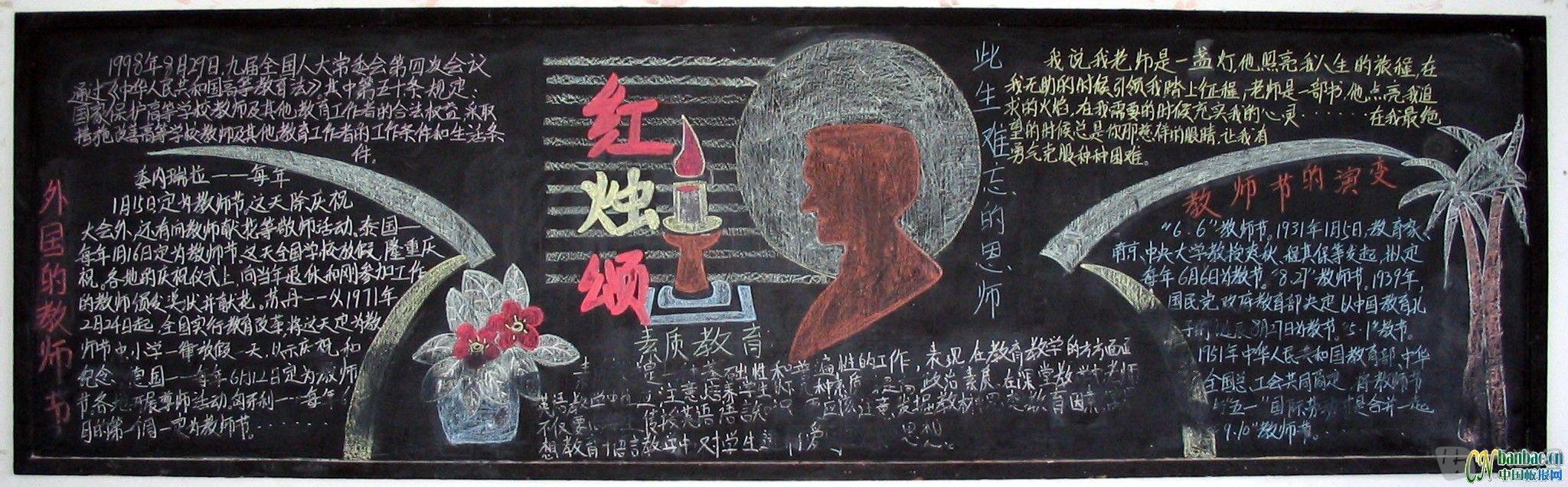 2014年教师节黑板报设计图片精选