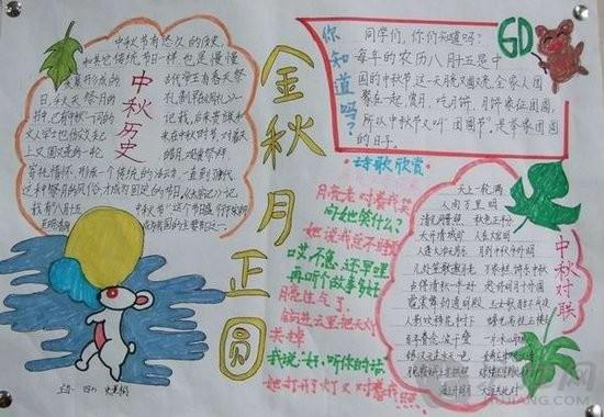 最新中秋节手抄报题目