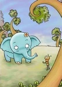 韩语笑话 大象和蚂蚁
