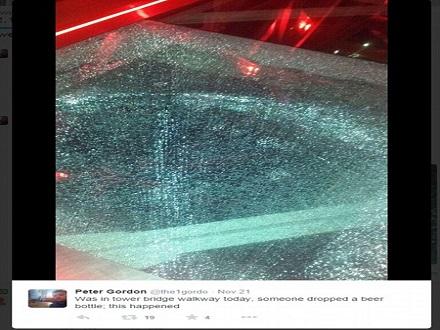 豆腐渣 伦敦桥玻璃地板被酒瓶砸裂(转载) - 大卫 - 峰回路转