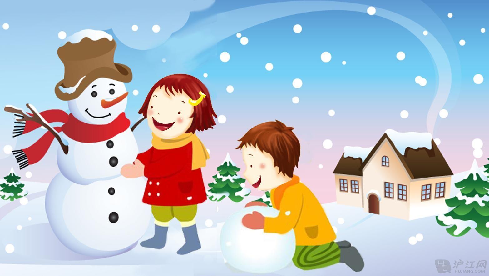 远远看去,小雪人正咧着嘴笑呢,真是 可爱极了!