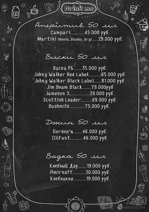 koidanov为一家咖啡店设计制作了一组全新的黑板菜单,吸引了大批客人