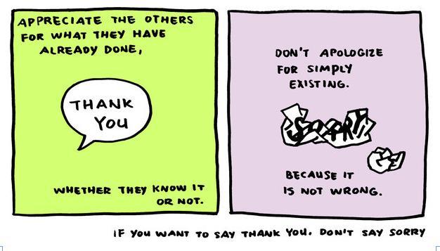 抱歉的英文_漫画大咖的说话艺术:能说感谢就不要说抱歉