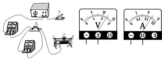 """小林同学做""""用电压表和电流表测电阻rx的阻值""""的实验"""