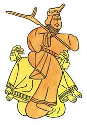 下图是夏桀把人当坐骑,它反映的社会情况是A
