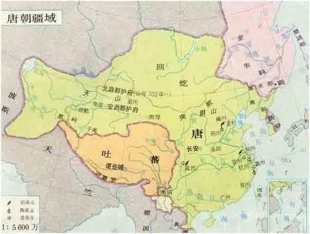 唐朝经济发展图手绘