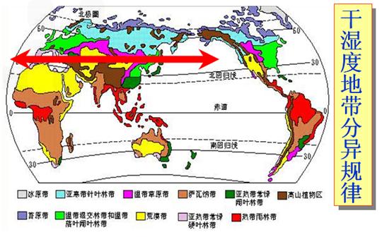 """读""""亚洲部分地区自然带分布图""""图片"""