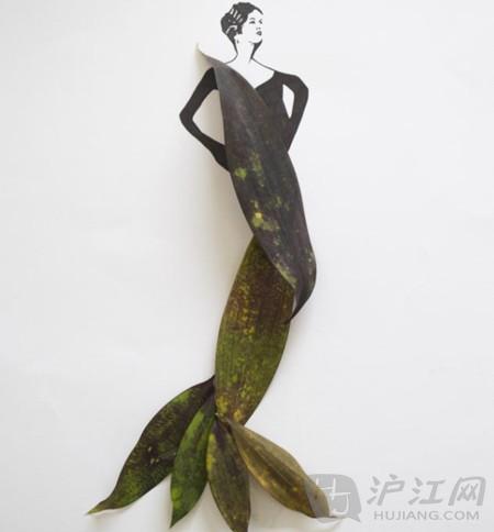 叶子也时尚:让树叶做你的时尚礼服