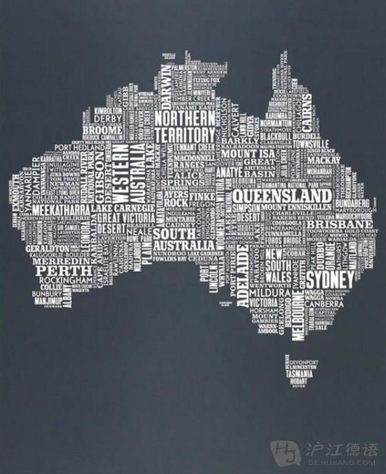 有趣的各国文字地图