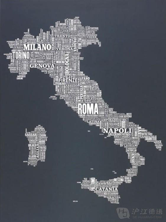 有趣的各国文字地图_德语学习