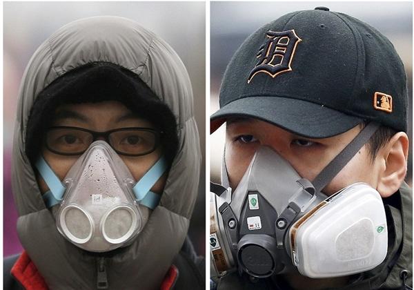 组图:即使雾霾天戴口罩的中国人仍潮爆了!